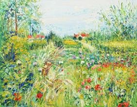 Large Yolande Ardisonne Painting, Original Work