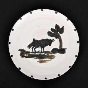Pablo Picasso BULL UNDER THE TREE Plate