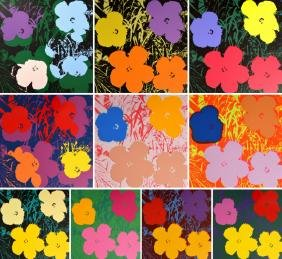 Andy Warhol (after) FLOWERS Portfolio of 10 Screen