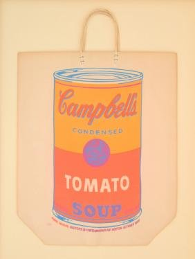 Andy  Warhol CAMPBELL'S SOUP CAN Shopping Bag