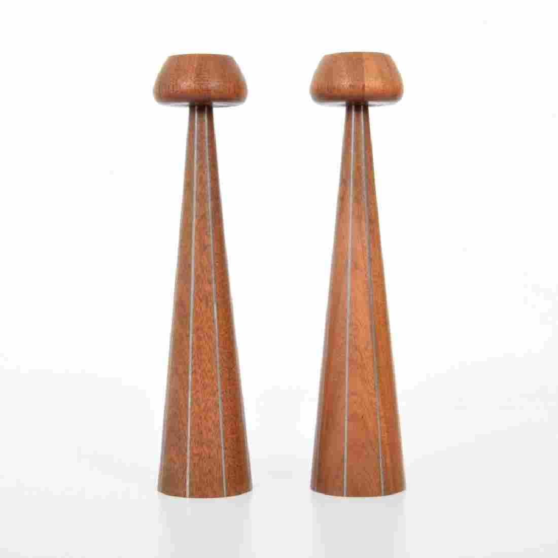 2 Paul Evans & Phillip Lloyd Powell Candlesticks