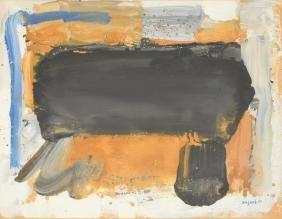Bram Bogart Gouache Painting, Original Work