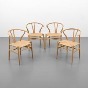 Hans Wegner WISHBONE Chairs, Set of 4