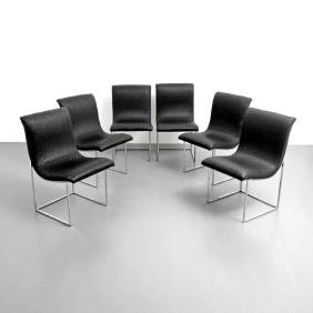 Milo Baughman SCOOP Dining Chairs, Set of 6