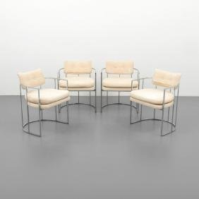 Milo Baughman Dining Chairs, Set of 4