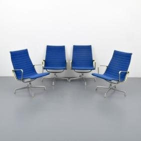 Charles & Ray Eames ALUMINUM GROUP Chairs, Set of 4