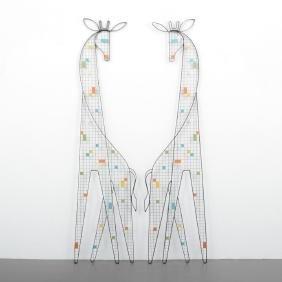 2 Monumental Giraffe Sculptures Attributed to Weinberg