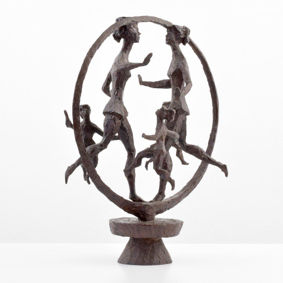 Large Chaim Gross Bronze Figural Sculpture