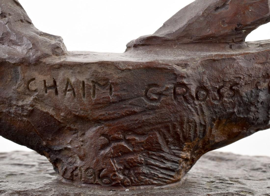 Large Chaim Gross Bronze Figural Sculpture - 7