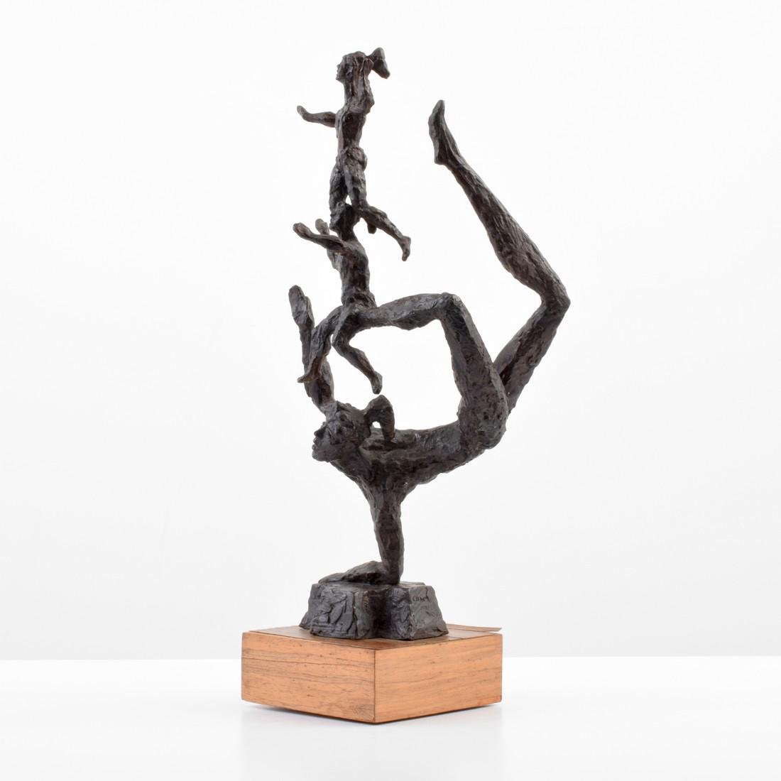 Large Chaim Gross Bronze Figural Sculpture - 3