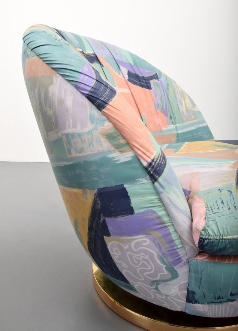 Pair of Milo Baughman Swivel Lounge Chairs - 7