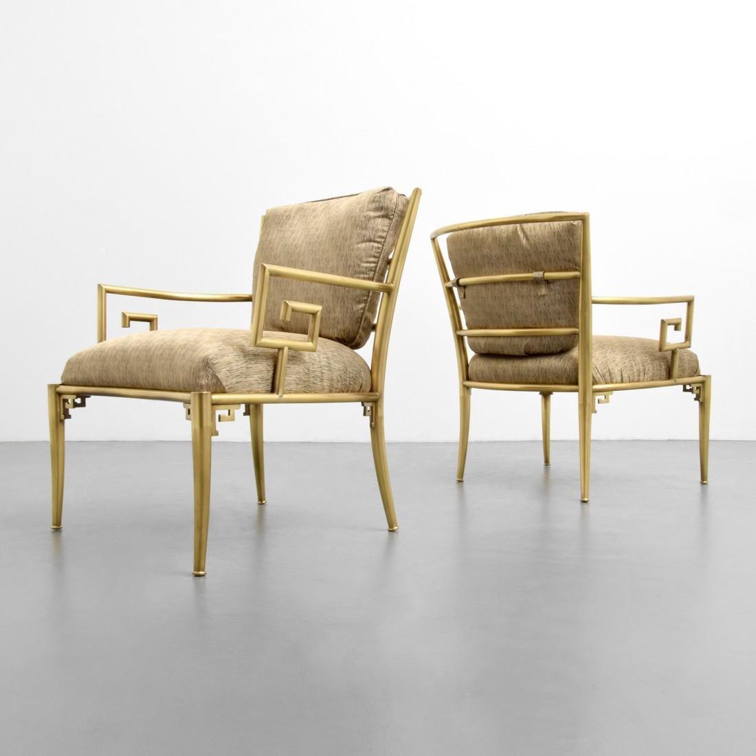 Greek Key Lounge Chairs, Attributed to Mastercraft