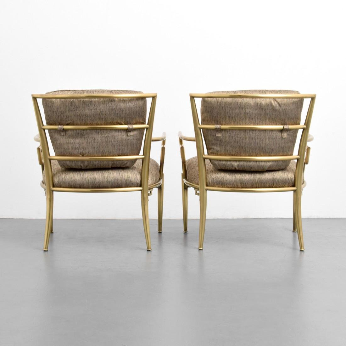 Greek Key Lounge Chairs, Attributed to Mastercraft - 2