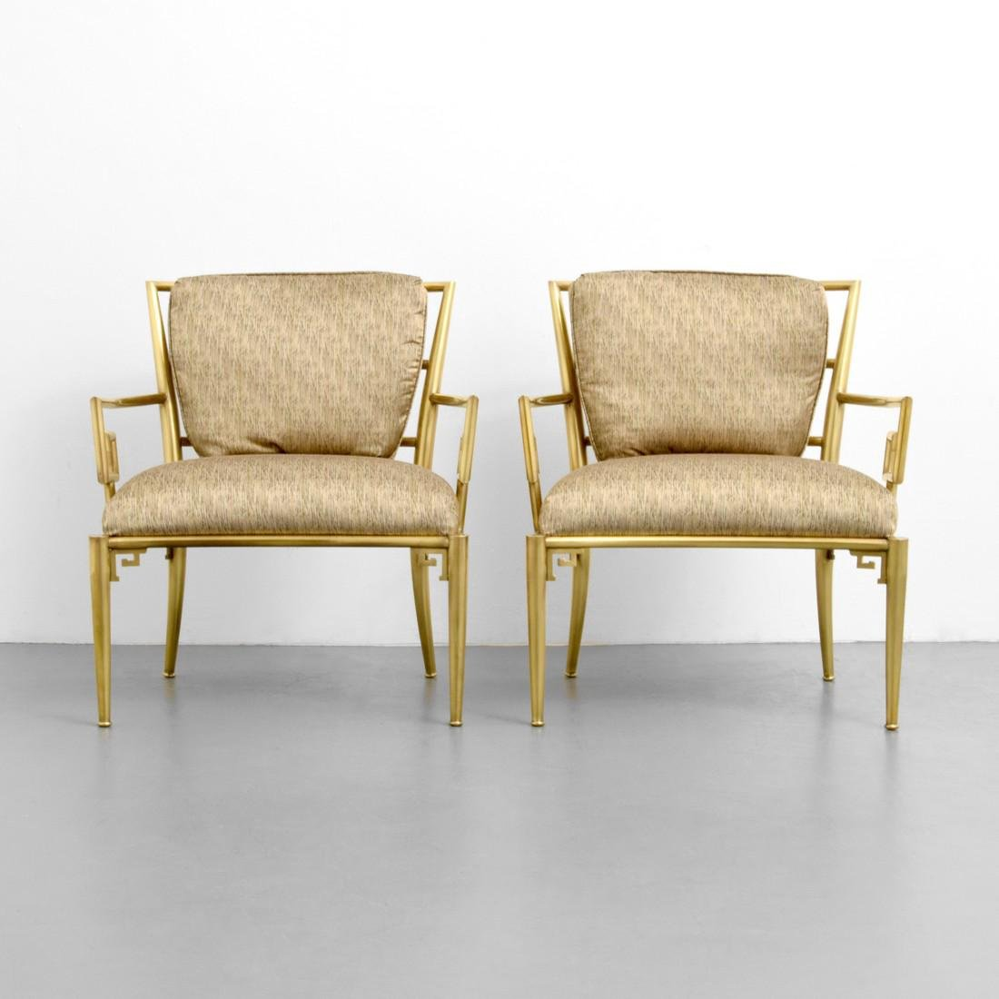Greek Key Lounge Chairs, Attributed to Mastercraft - 3