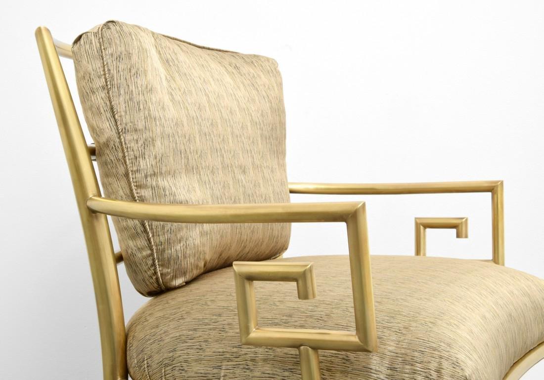 Greek Key Lounge Chairs, Attributed to Mastercraft - 5