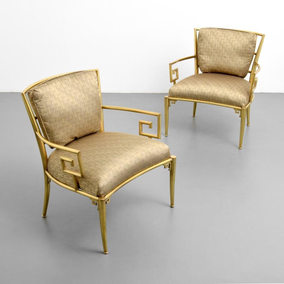 Greek Key Lounge Chairs, Attributed to Mastercraft - 8