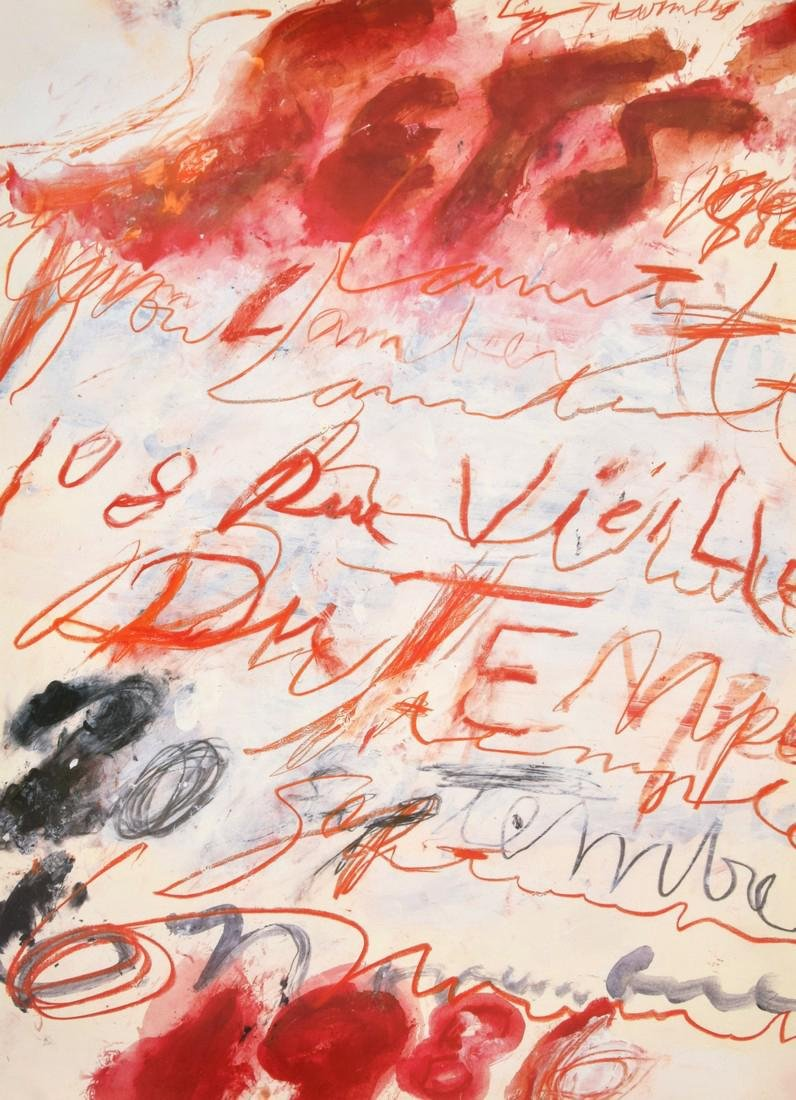 Cy Twombly Yvon Lambert Exhibition Poster