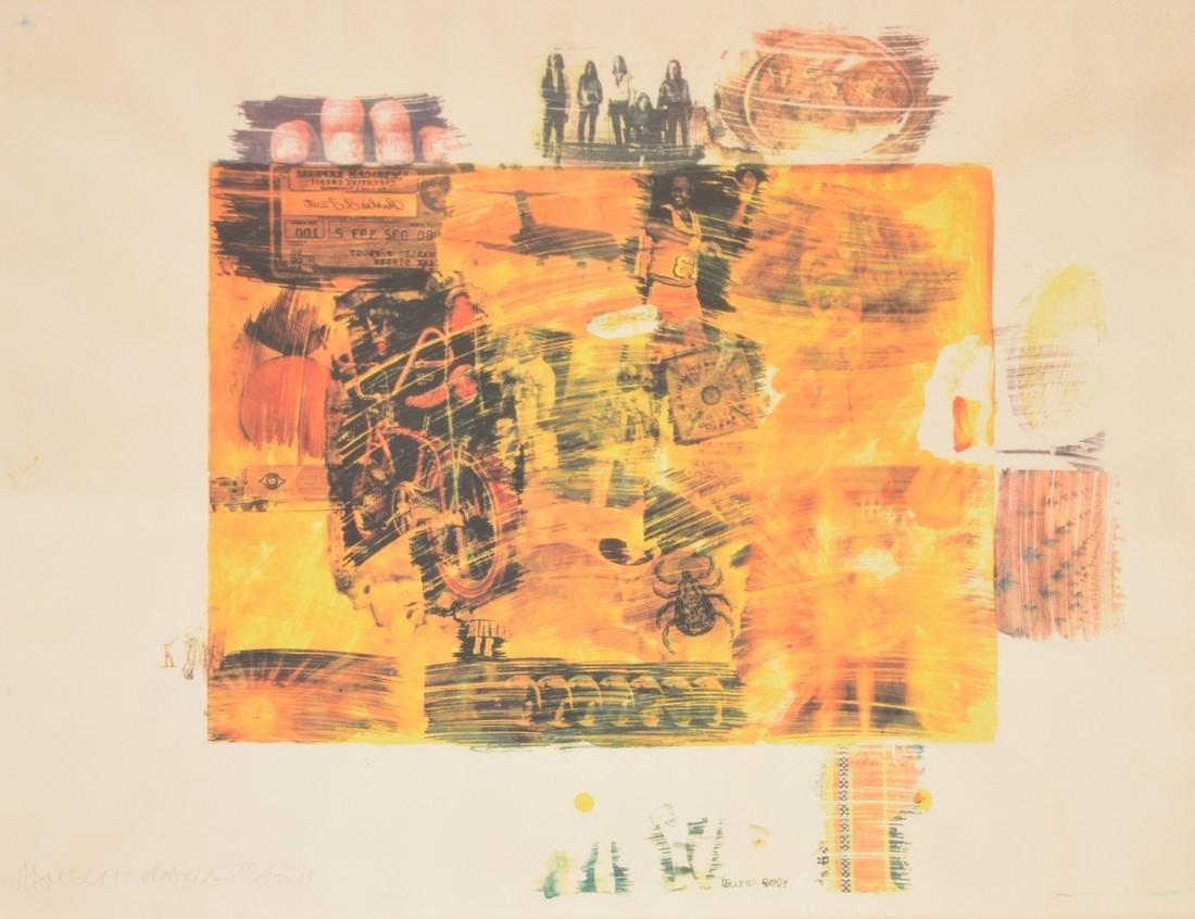 Robert Rauschenberg YELLOW BODY Lithograph