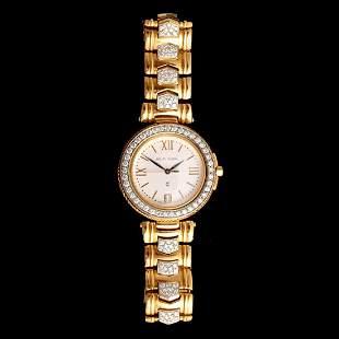 Philippe Charriol 18k Yellow Gold Diamond Estate Watch