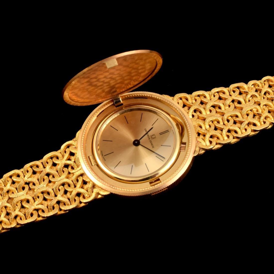 18K Yellow Gold Universal Geneve Vintage Estate Watch