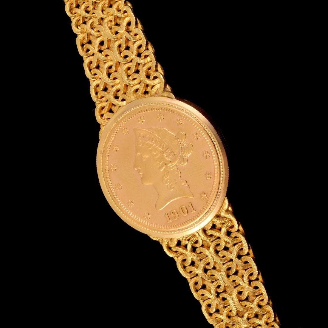 18K Yellow Gold Universal Geneve Vintage Estate Watch - 2
