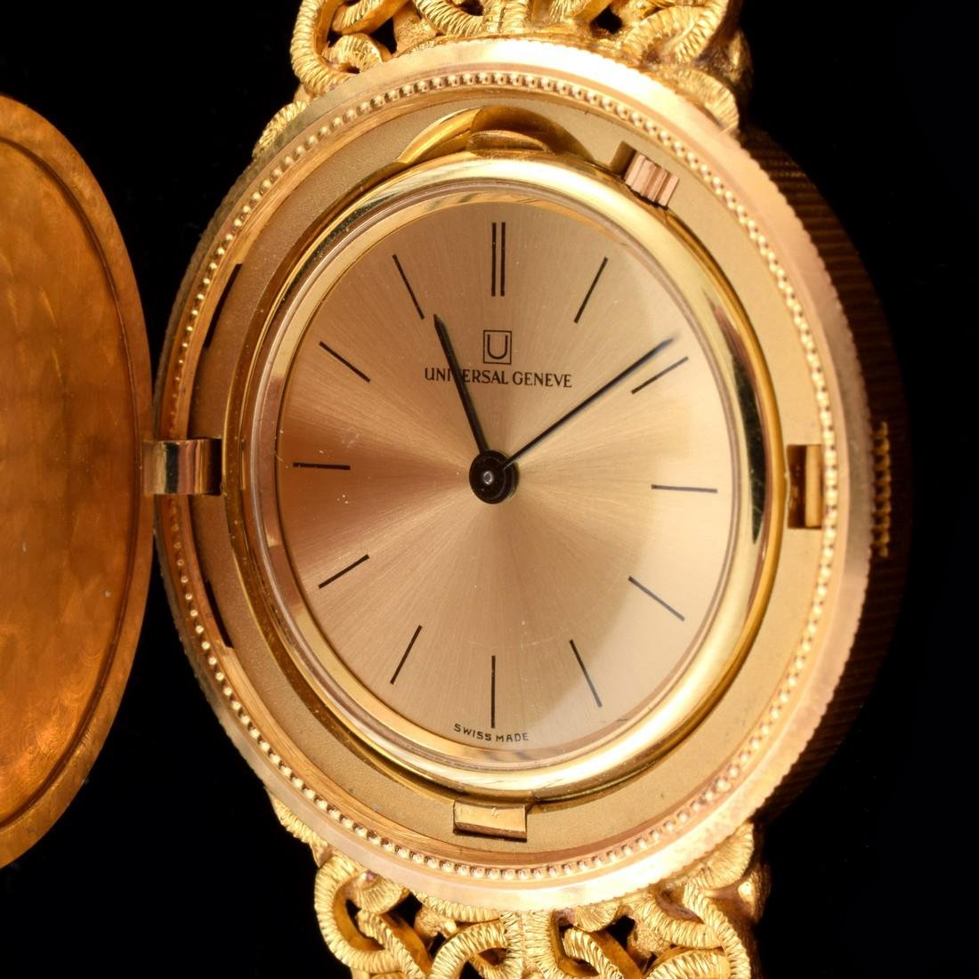 18K Yellow Gold Universal Geneve Vintage Estate Watch - 3