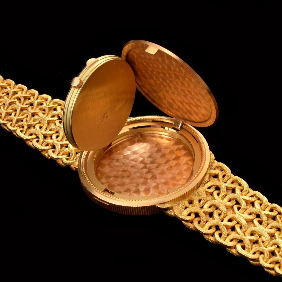 18K Yellow Gold Universal Geneve Vintage Estate Watch - 4