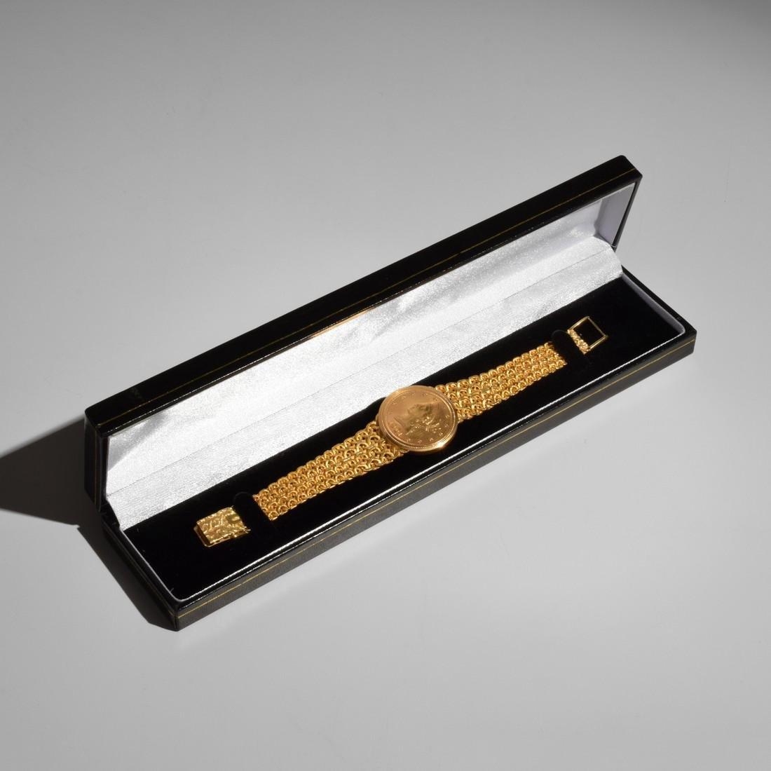 18K Yellow Gold Universal Geneve Vintage Estate Watch - 6