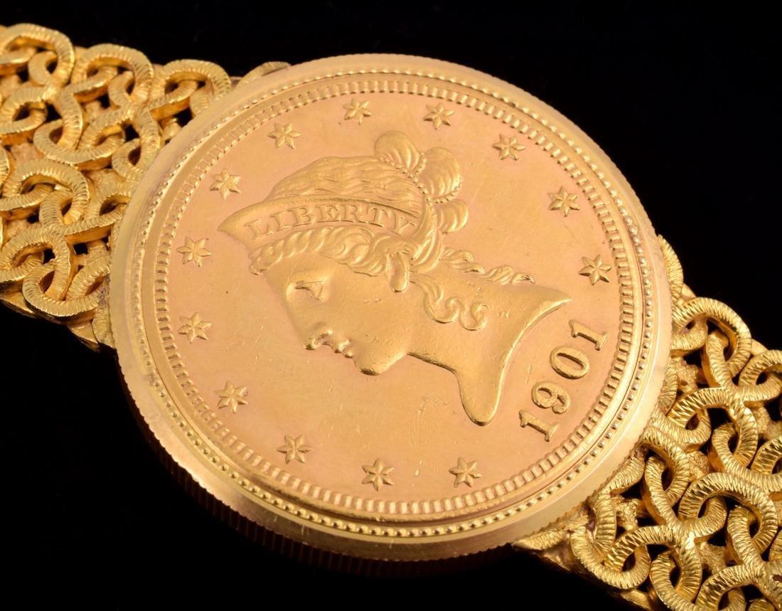 18K Yellow Gold Universal Geneve Vintage Estate Watch - 8