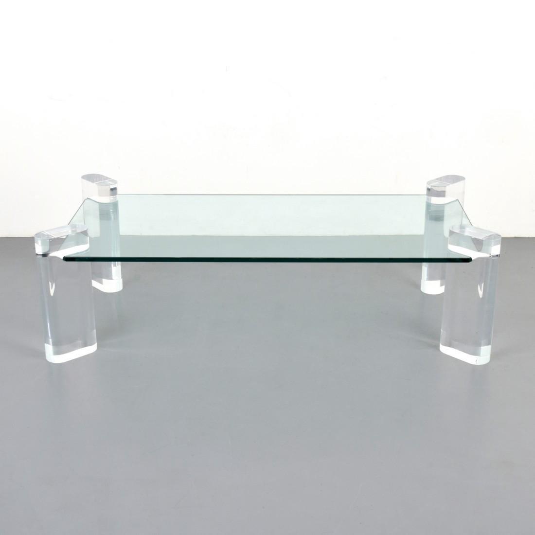 Large Karl Springer Coffee Table