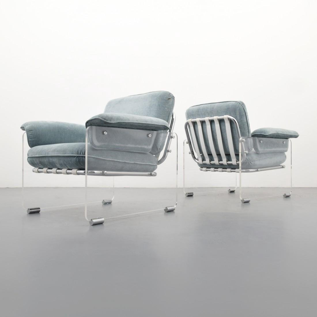 Pair of Pace Collection ARGENTA Lounge Chairs