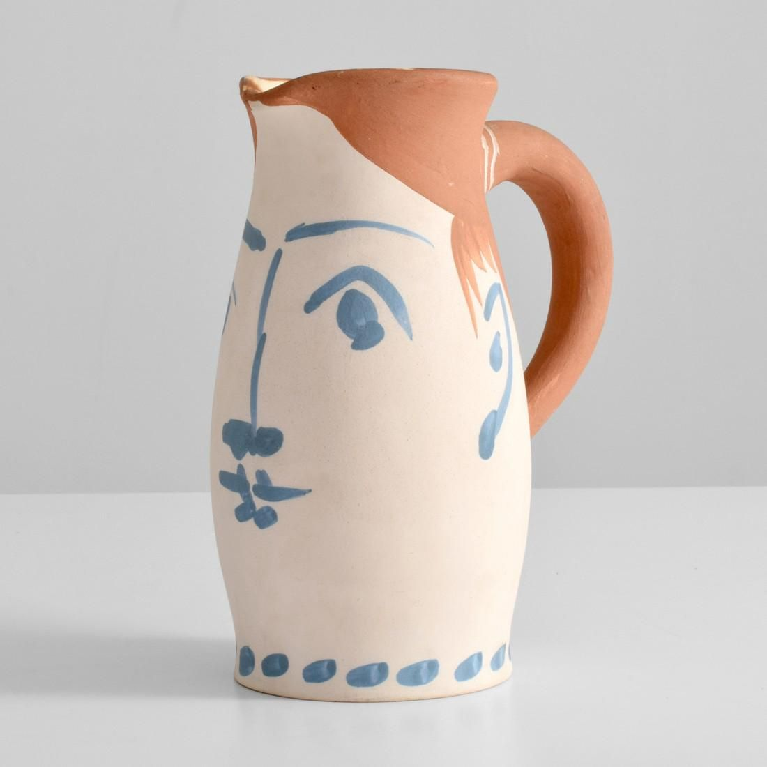 Pablo Picasso VISAGE DE FEMME Handled Vase