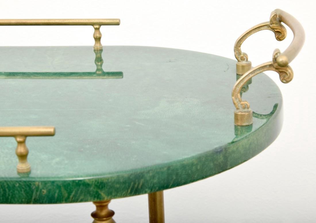 Aldo Tura Goatskin Tea Cart - 4