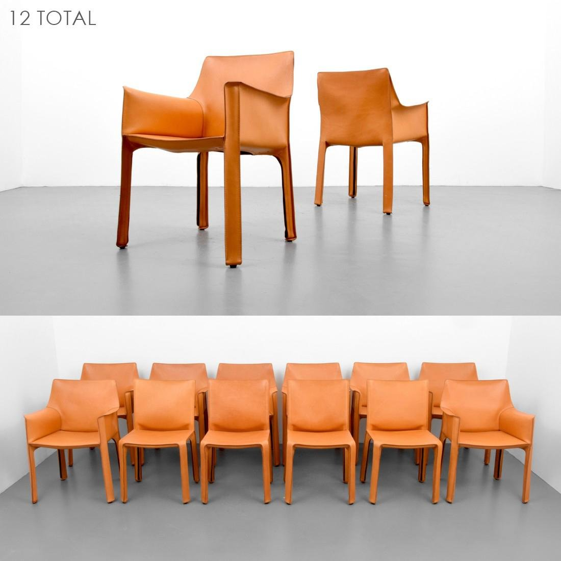 Mario Bellini Dining Chairs, Set of 12