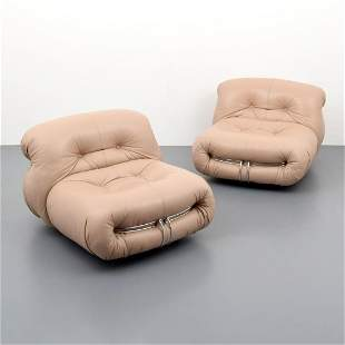 Pair of Afra & Tobia Scarpa SORIANA Lounge Chairs