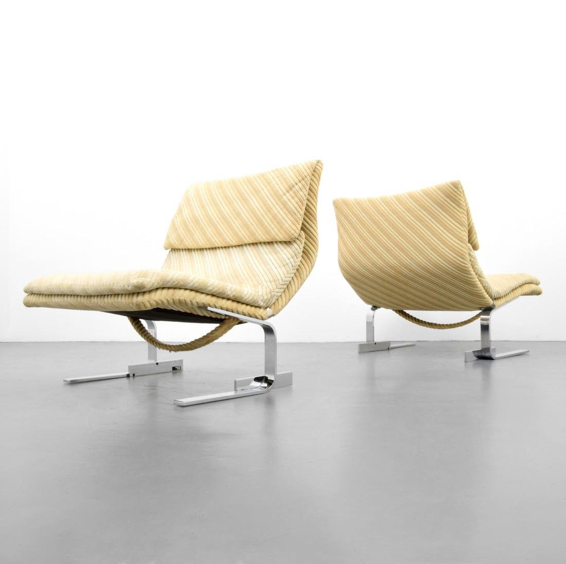 Pair of Giovanni Offredi WAVE / ONDA Lounge Chairs
