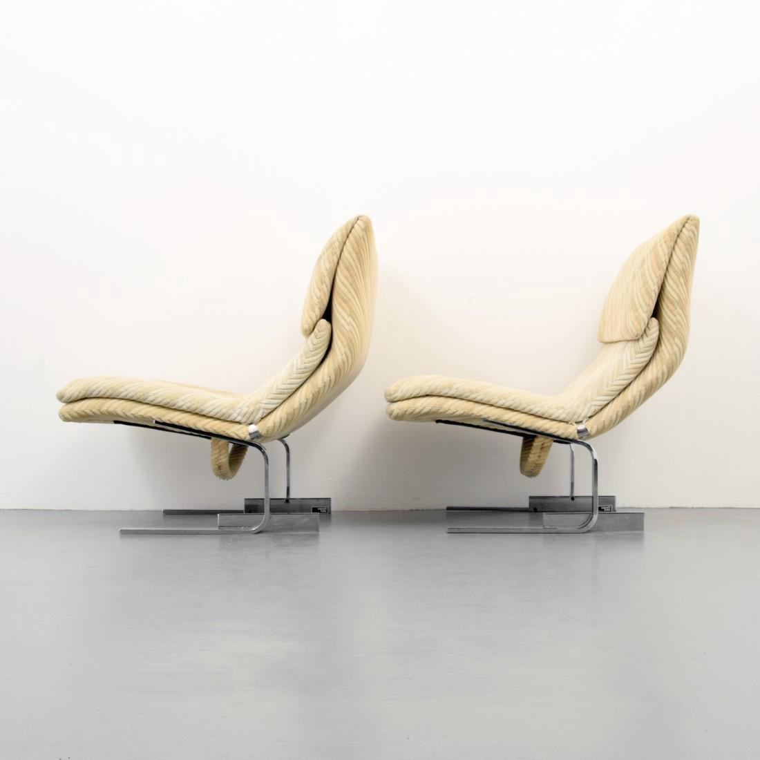 Pair of Giovanni Offredi WAVE / ONDA Lounge Chairs - 2