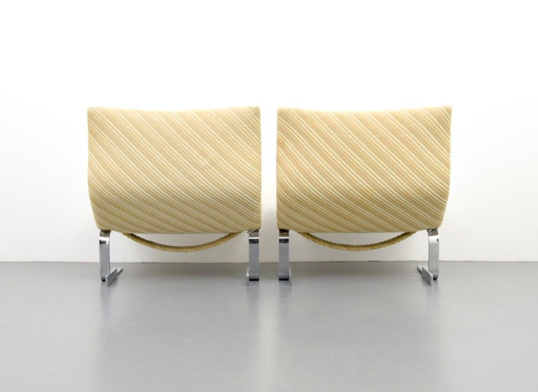 Pair of Giovanni Offredi WAVE / ONDA Lounge Chairs - 6