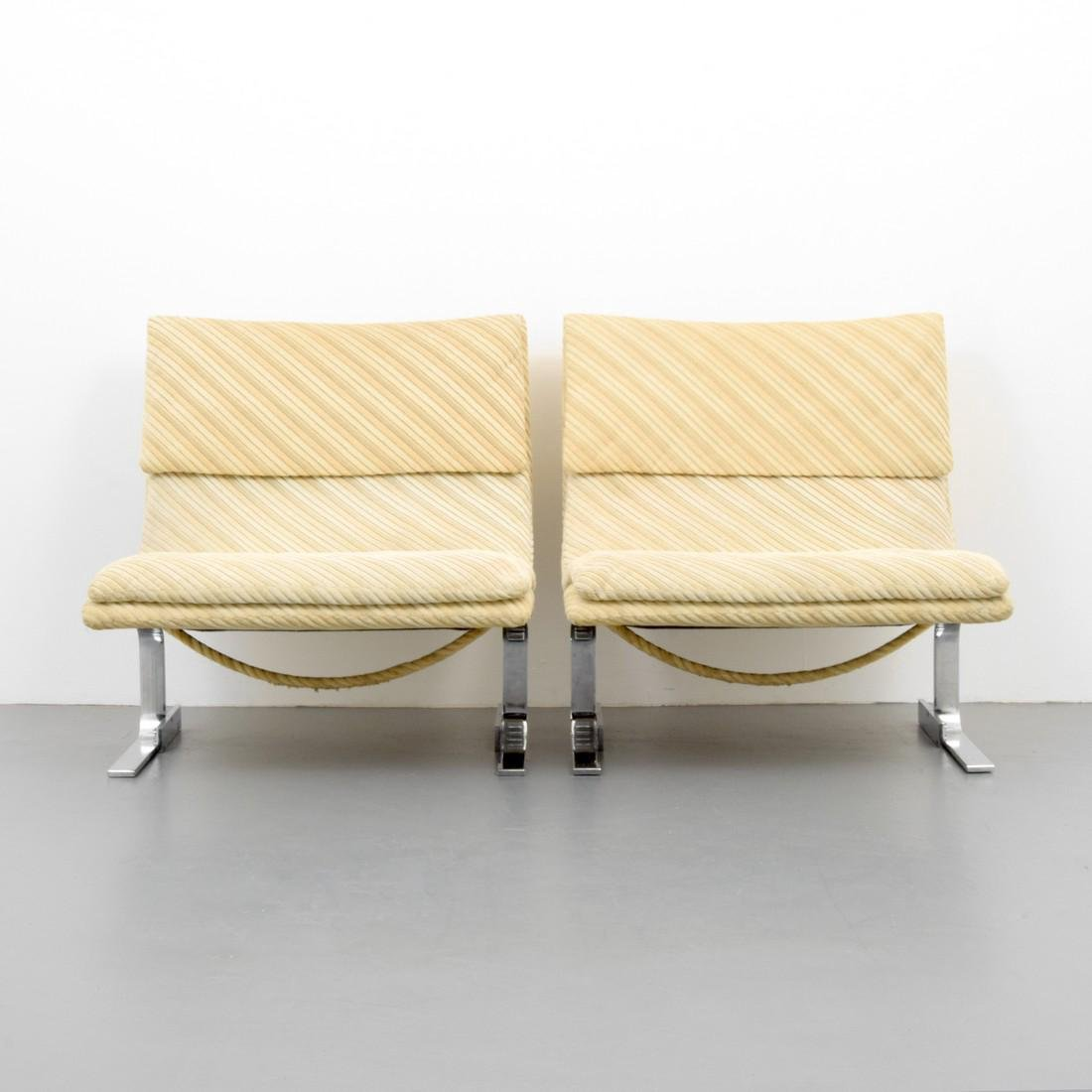 Pair of Giovanni Offredi WAVE / ONDA Lounge Chairs - 7