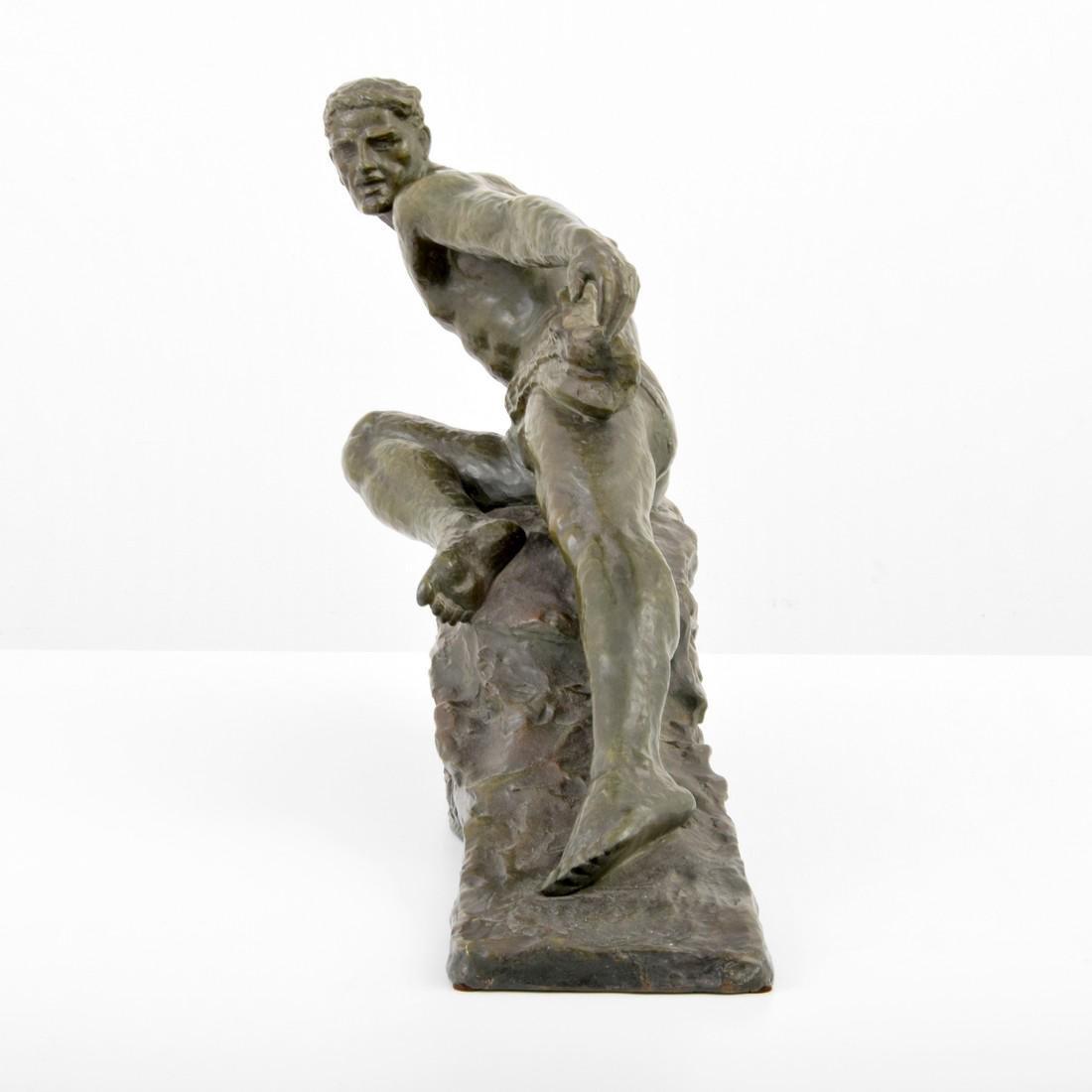Large Pierre Le Faguays Art Deco Figural Sculpture - 2