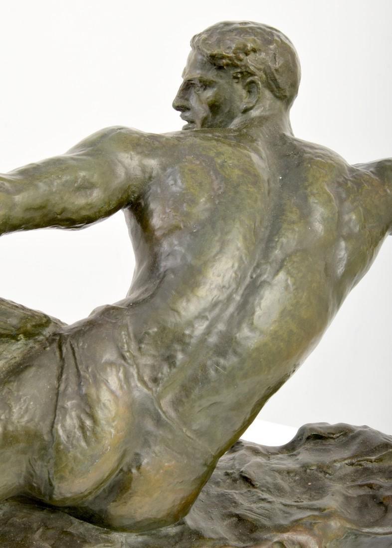 Large Pierre Le Faguays Art Deco Figural Sculpture - 3