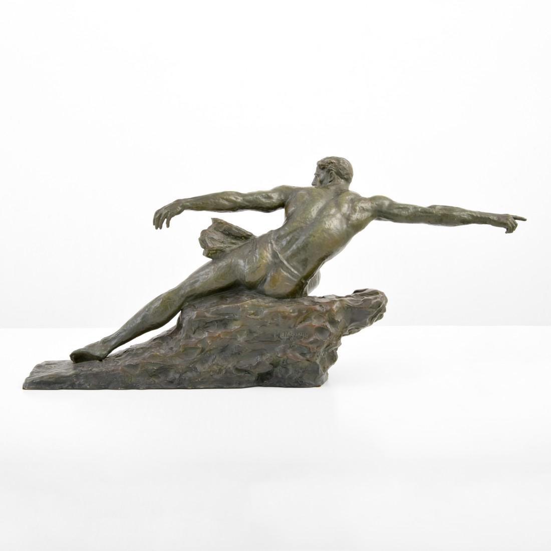 Large Pierre Le Faguays Art Deco Figural Sculpture - 5