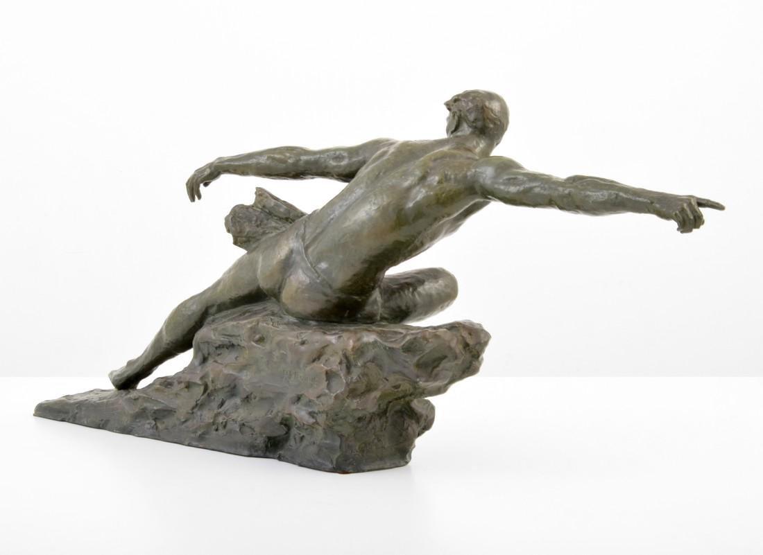 Large Pierre Le Faguays Art Deco Figural Sculpture - 6