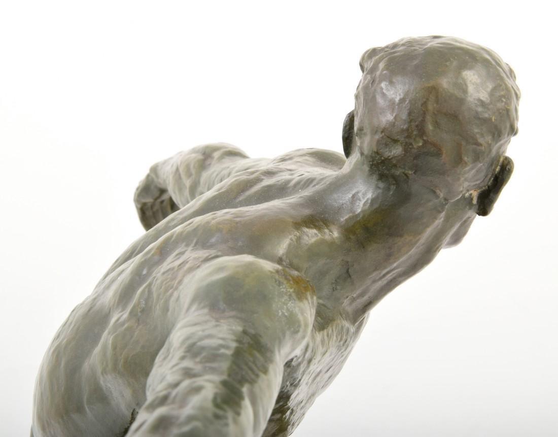 Large Pierre Le Faguays Art Deco Figural Sculpture - 7