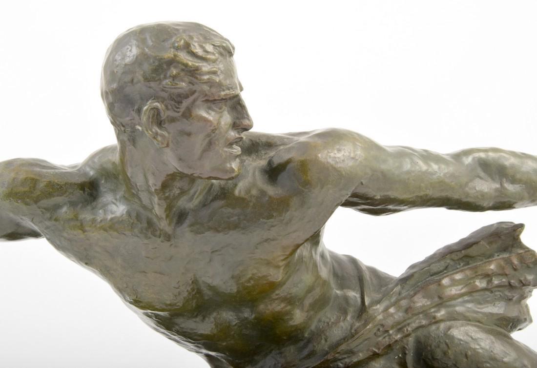 Large Pierre Le Faguays Art Deco Figural Sculpture - 8