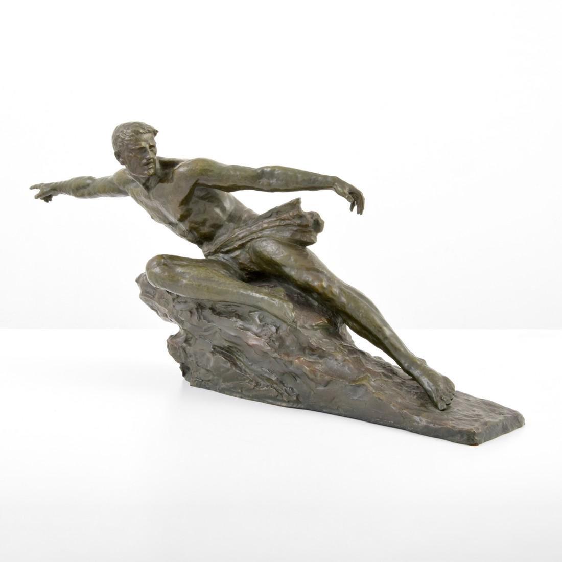 Large Pierre Le Faguays Art Deco Figural Sculpture - 9