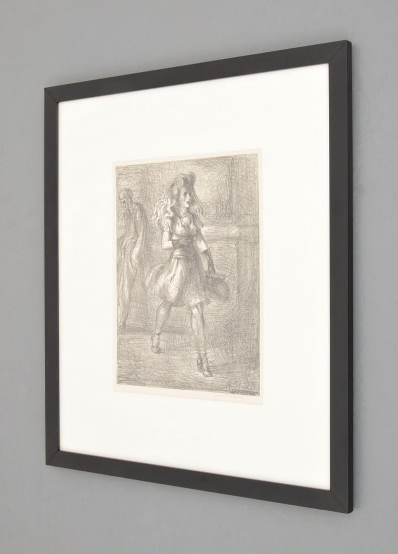Reginald Marsh Lithograph, GIRL WALKING, Signed - 2
