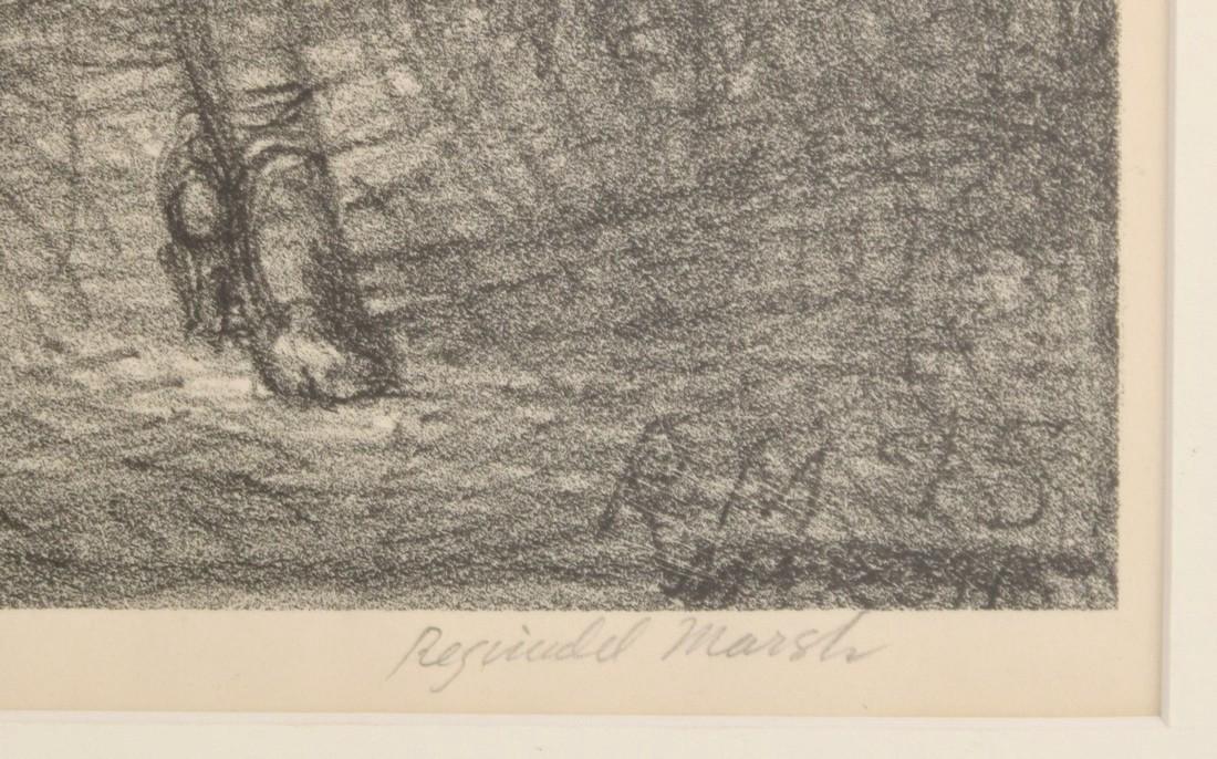 Reginald Marsh Lithograph, GIRL WALKING, Signed - 3