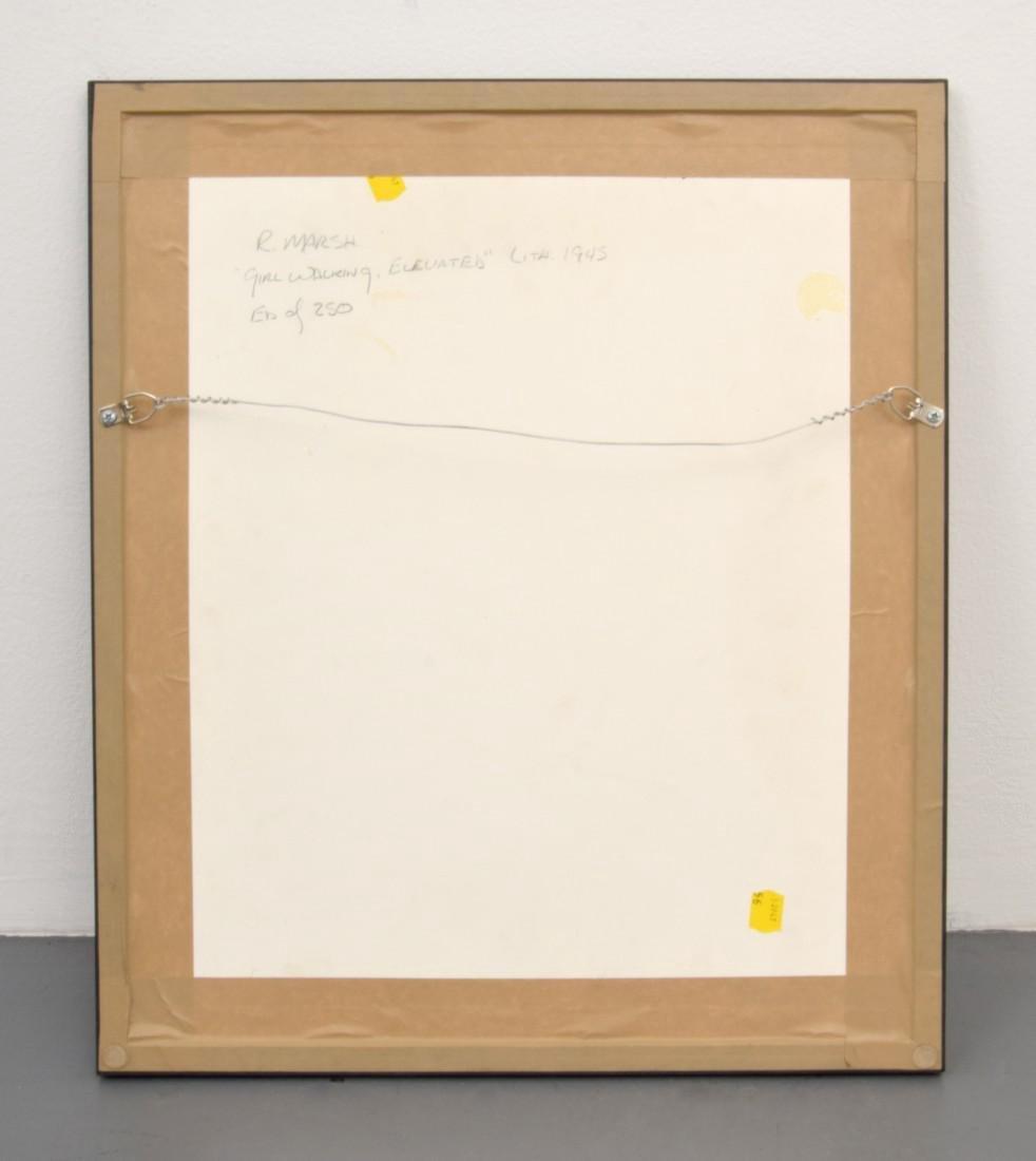 Reginald Marsh Lithograph, GIRL WALKING, Signed - 4