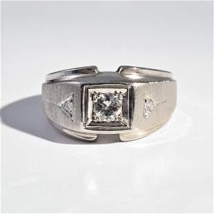 14K White Gold Diamond Vintage Estate Ring